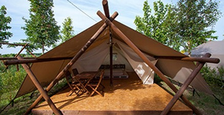 Booking lodge (large tents) naturist glamping, Bnatural naturist& glamping